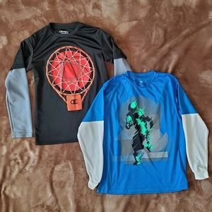 Boys long-sleeved graphic tees bundle